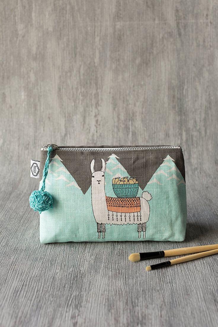 Amazon.com: Danica Studio Linen Cosmetic Bag, Small, Bicicletta: Home & Kitchen
