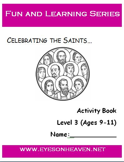 All Saints Day is coming up! Start celebrating and learning about the saints with your kids now with this free saints activity book!