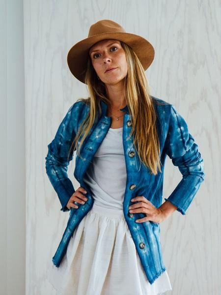 Shibori Jacket Indigo | Ditte Maigaard Studio