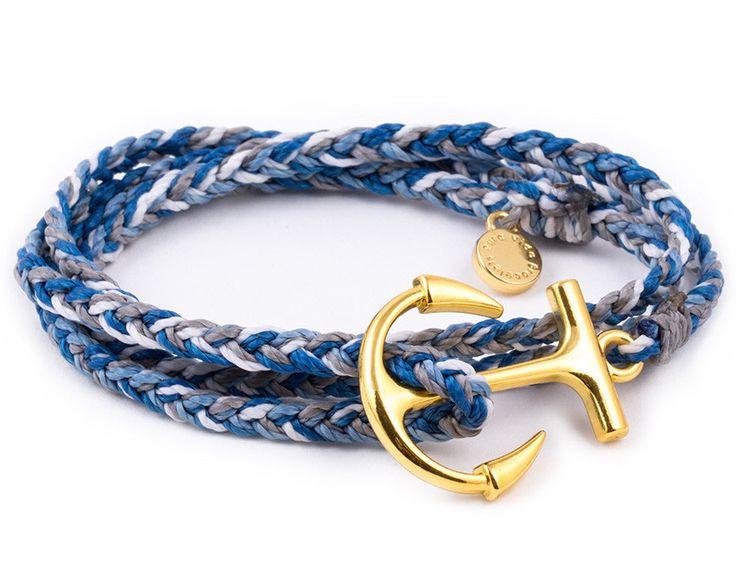 Charm Bracelet - BLUE DOLPHINS RECTANGLES by VIDA VIDA yS0RhenVS