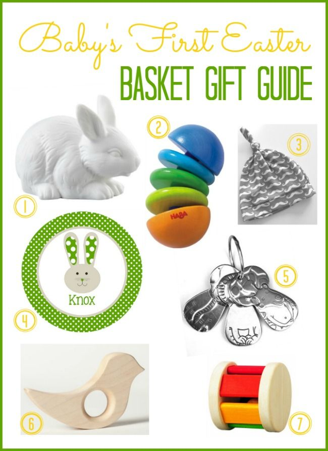 28 best baby easter images on pinterest easter baskets baby babys first easter basket gift ideas negle Images