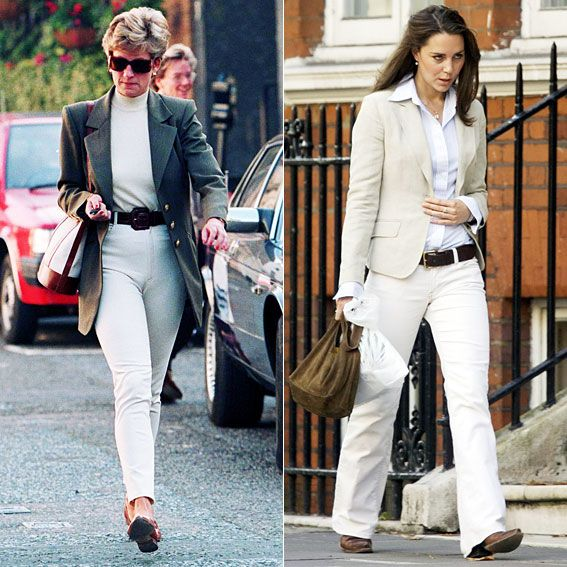 Princess Diana And Kate Middleton 39 S Similar Style Casual