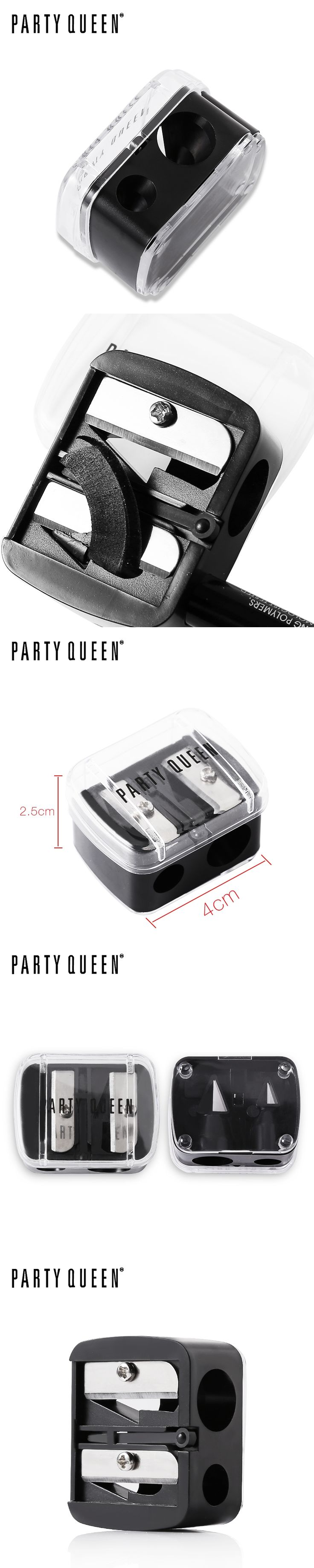 Party Queen Makeup Double Holes Eyeliner Pencil Sharpener Useful Cosmetic lipliner Pencil Sharpener Beauty High Quality