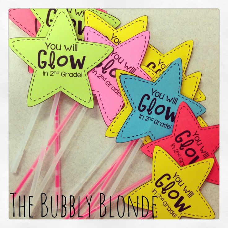 You will Glow in 1st Grade / Kindergarten Graduation Gift Idea