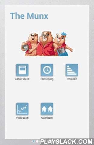 Munx  Android App - playslack.com , Die Munx sind Energiespezialisten und helfen dir, Energie zu sparen. Mit der Munx Android App kannst du spielerisch deinen Energieverbrauch messen und Herausfinden, wie gross dein alltäglicher Strombedarf in deinem Haushalt wirklich ist. Alles was du tun musst ist, ab und zu den aktuellen Stromzählerstand einzutippen. Durch Angabe von wenigen Informationen (wie Haushaltgrösse, Wohnfläche oder Art der Heizung) kannst du deine persönliche Effizienz bestimmen…