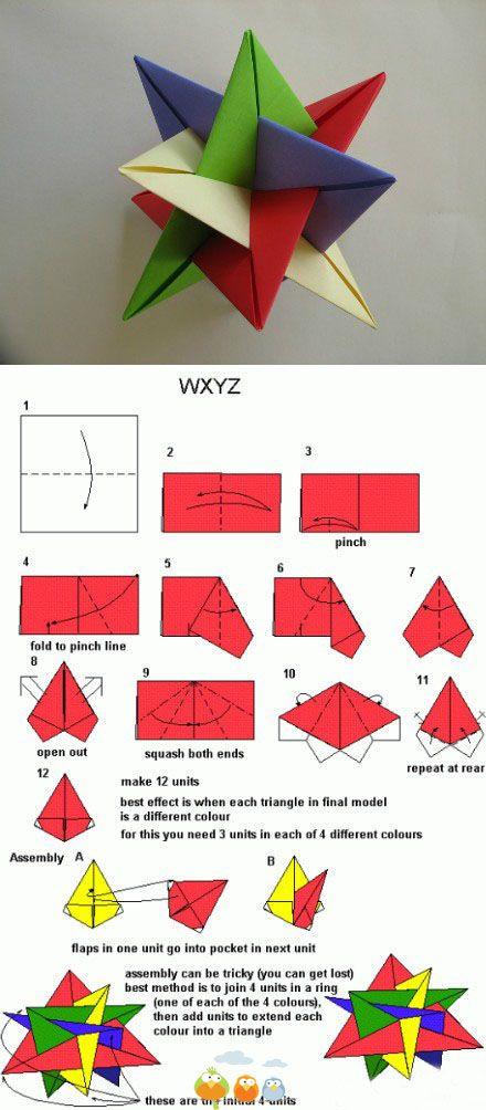 Origami ster voor de gevorderden. Wel heel stoer als je deze kan maken!