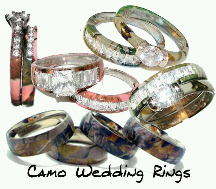 Cute Camo his and hers wedding rings