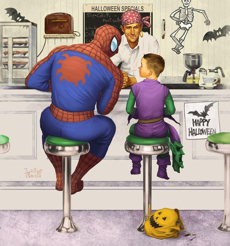 Rockwell Spiderman by lukeradl.deviantart.com on #deviantART