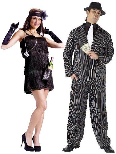 20's Bootleg Flapper & Gangster Pinstriped Adult Couples Costume Set Size: One Size: http://www.worldofadultcostumes.com/Couples.html #couples_costumes #pirate_couples_costumes #Halloween2013costumes #halloweencostumespirates #bestcouplescostumes #couplecostumeforhalloween #adultparty  #cutestcouplescostumes