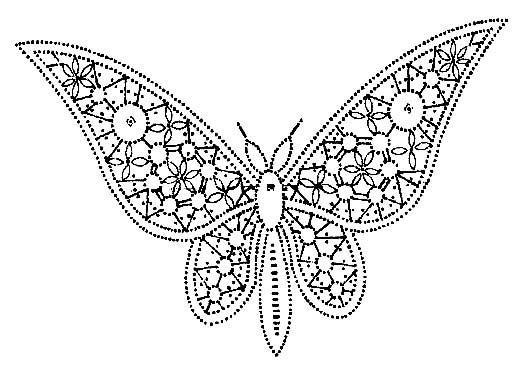 A Bobbin Lace Lover: Patrones de mariposas  -Several