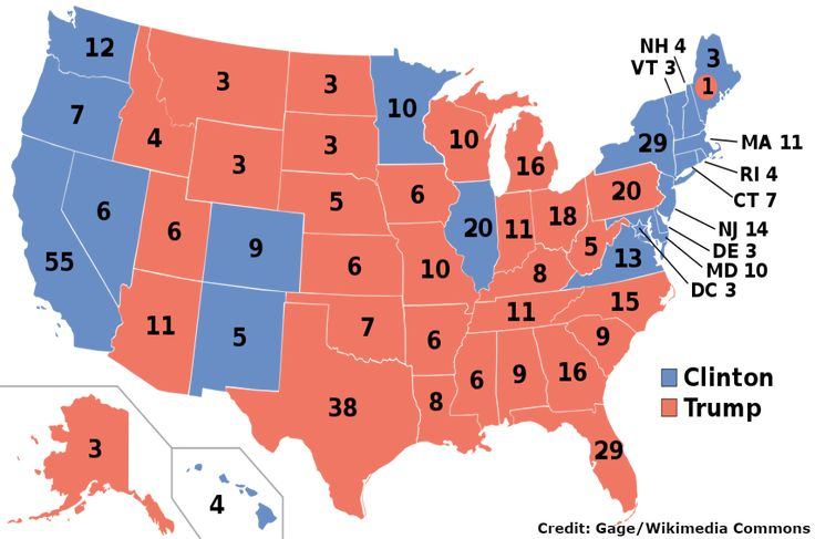 Projected Electoral College map for the 2016 United States presidential election