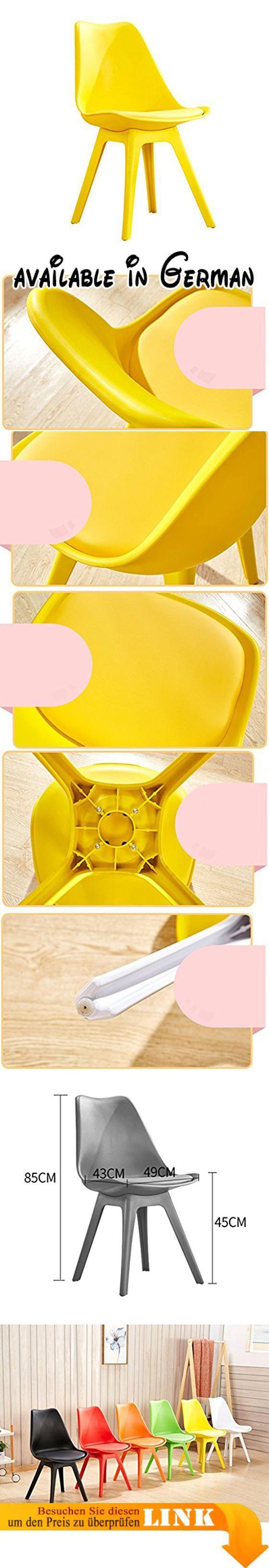 B078WMJXXX : Stuhl Haushalt Kreative einfache Kunststoff Stuhl Rückenlehne Nordeuropa Esszimmerstuhl ( Farbe : #1 ).  Stuhl mit umweltfreundlichen PP-Material Sicherheit und Umweltschutz stark und langlebig.  komfortable Rückenlehne nach ergonomischem Design passen Sie die Körperkurve geben Ihnen einen angenehmen Genuss.  geräumiges und komfortables Sitzdesign Innenausstattung mit hochelastischem Schwamm sesshaft hautfreundlich atmungsaktiv.  Boden