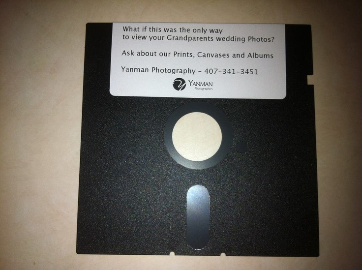 "Kids, this is what you'd call a 5.25"" floppy."