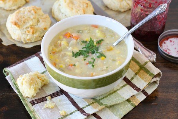 Corn Chowder Recipe   Vegetarian Corn Chowder   Two Peas & Their Pod