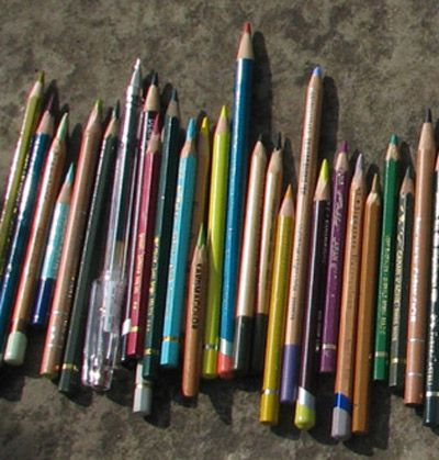 my sketching pencils - see http://travelsketch.blogspot.co.uk/2011/09/sketching-herb-garden-at-sissinghurst.html