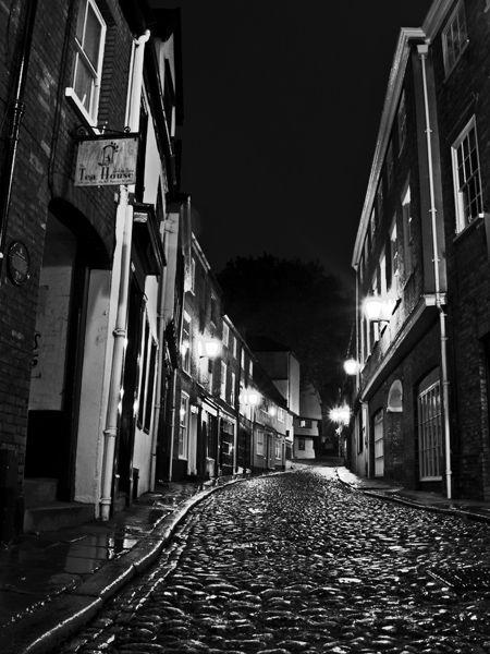 Elm Hill, Norwich at Night, Norfolk, UK