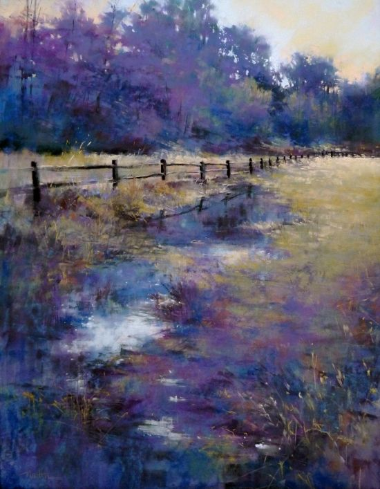 Serendipity by Barbara Benedetti Newton - love the purples and blues.
