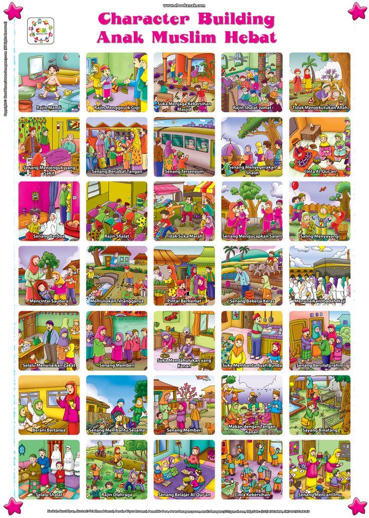 Poster Panduan Character Building Anak Muslim Hebat   Ebook Anak