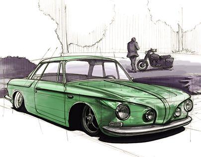 """Check out new work on my @Behance portfolio: """"Karmann Ghia Type 34"""" http://be.net/gallery/45508799/Karmann-Ghia-Type-34"""