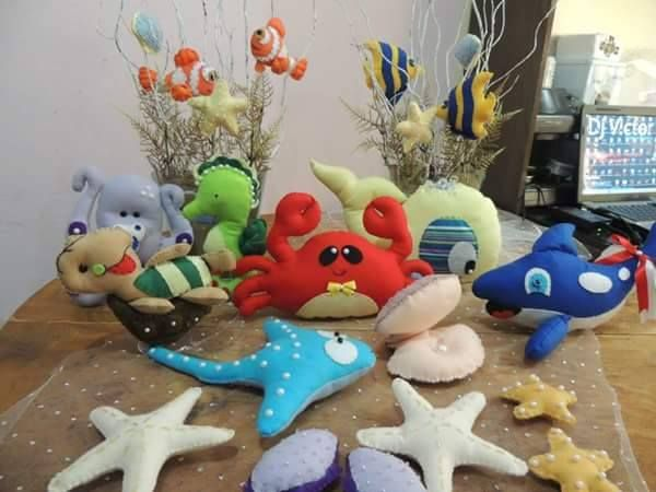 Feltro Fácil: Moldes animais do fundo do mar