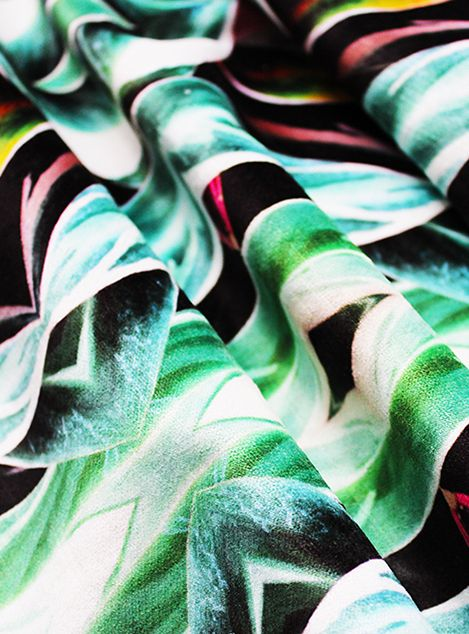 This daring and exotic print features different foliage which give it the beautiful and bright colours. The contrasting greens with stunning pinks make this a modern and unique fabric that is perfect for any room. Pick one colour from the palette and accessorise with similar tones.  Tropics are part of our Organic Contour collection and are now available as a luxurious fabric suitable for drapery, curtaining, upholstery and furnishings. Each is designed in our Atelier based in Glasgow and…