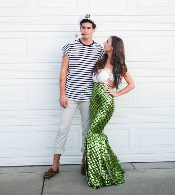 Ideas & Accessories for your DIY Mermaid & Sailor Halloween Couple Costume Idea