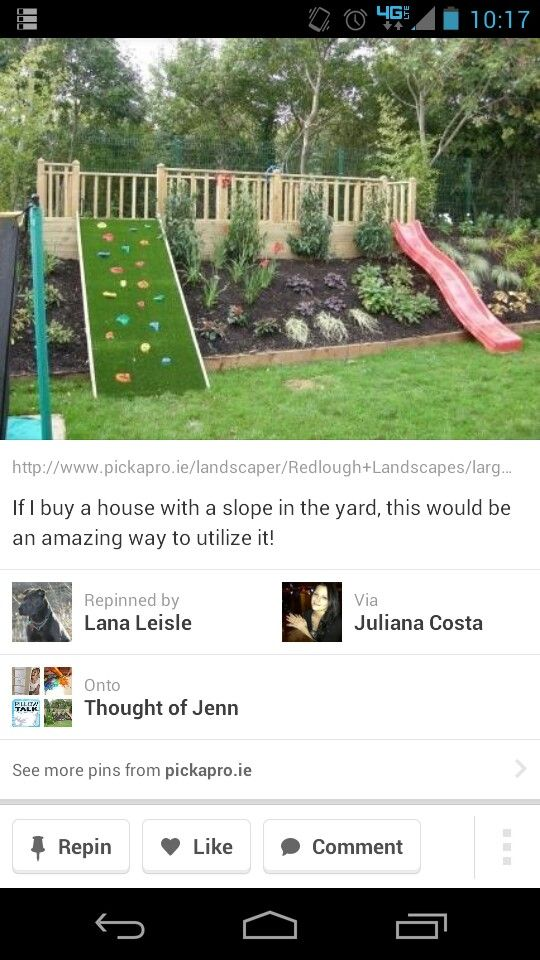 so much fun for young children, for a  back yard has a HUGE slope!