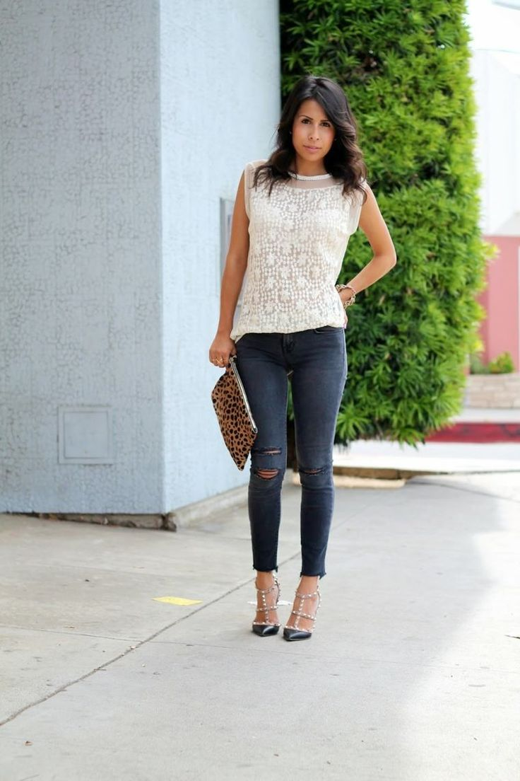style casual chic : jean slim