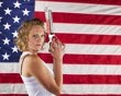 Modern pentathlon athlete Margaux Isaksen poses for a portrait during the 2012 U.S. Olympic Team Media Summit in Dallas