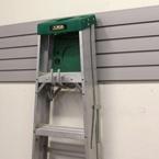 Ladder storage is easy with a storeWALL HD Cradle Hook