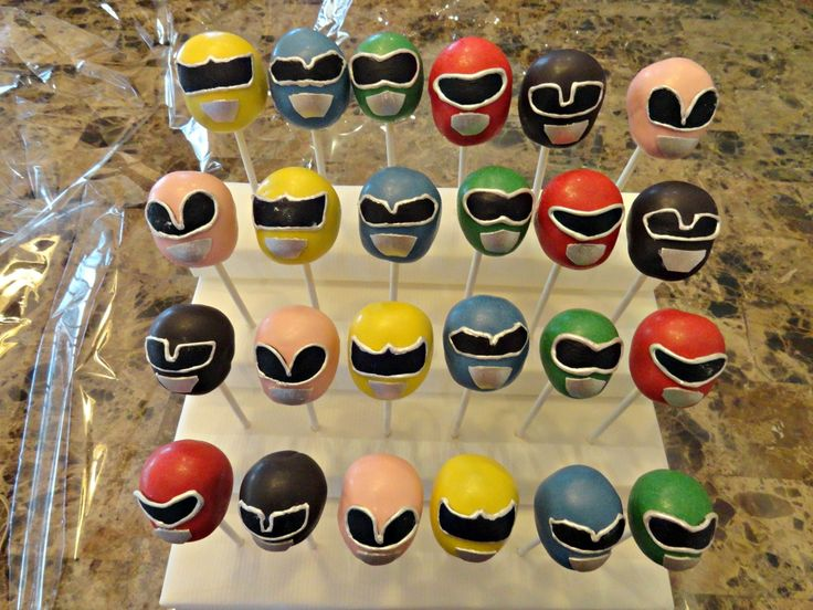 Power Ranger Cake Pops