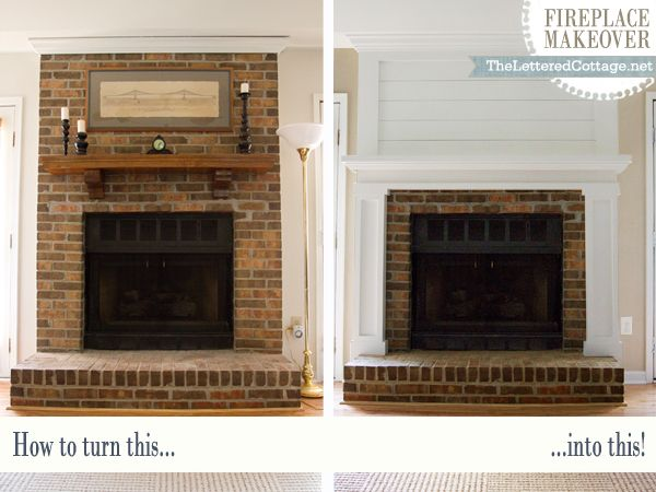 Fireplace Makeover | The Lettered Cottage