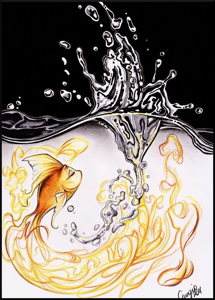 Cleo from PinocchioTattoo Ideas, Goldfish Drawing, Drawing Art, Drawing Ideas Disney, Goldfish Cleo, A Tattoo, Cleo Fish, Art Fish, Cool Tattoos