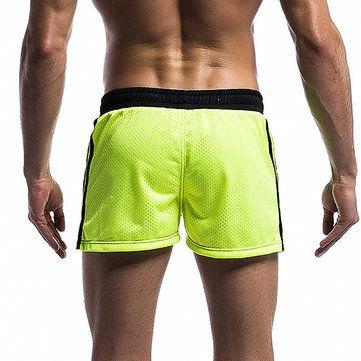Mens Mesh Underwear Shorts Leisure Fashion Running Fitness Elastic Waist Drawstring Sports Shorts at Banggood