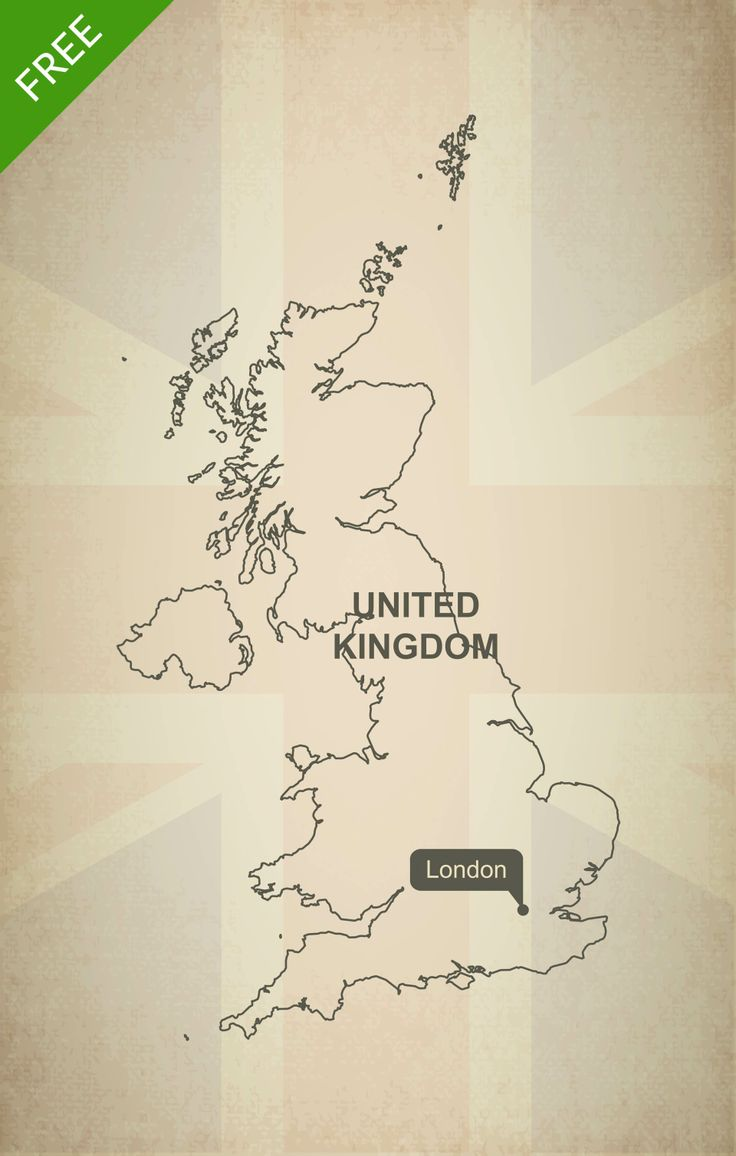 Free download of United Kingdom outline vector