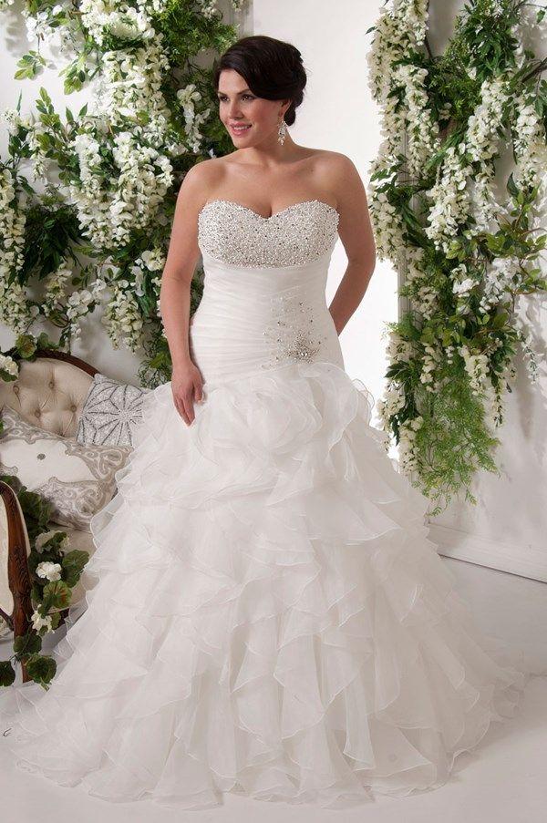 Tulle plus size wedding dress