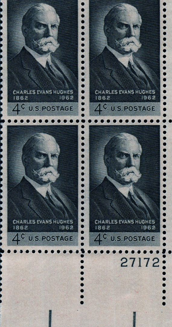 Charles Evans Hughes 1962 4 Cent Postage Stamps by peachiepockets, $7.00