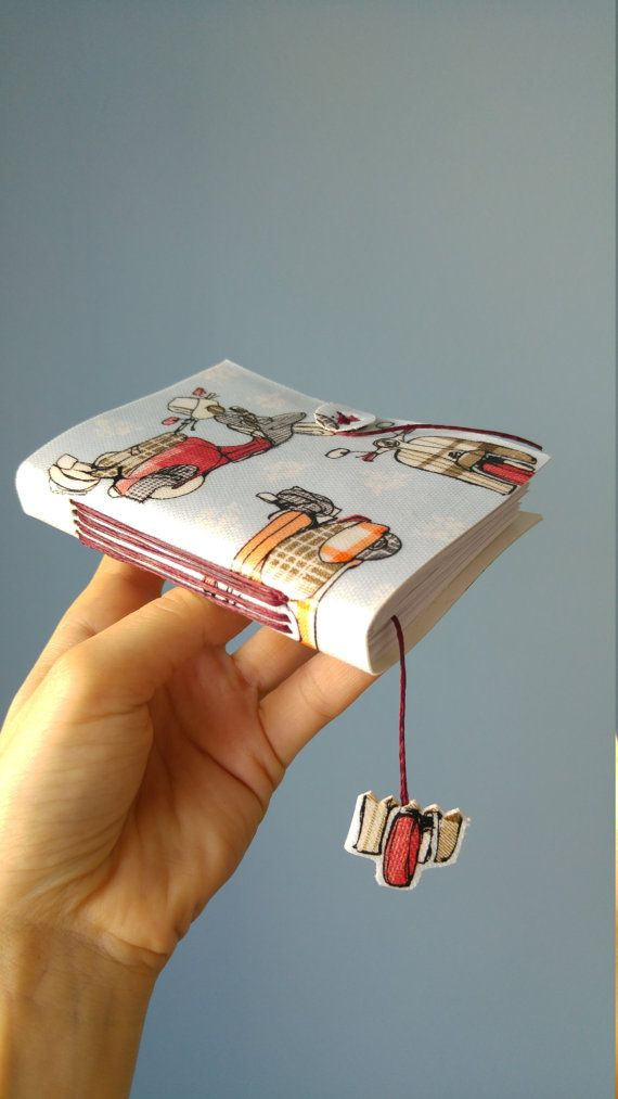 hand made journal with Vespa Cath Kidston by B2handmadedesign
