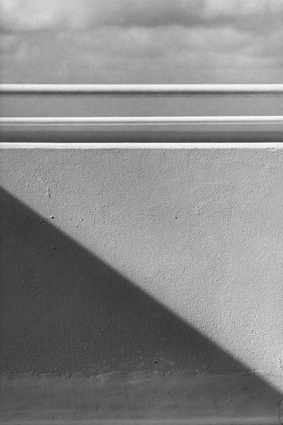 Exhibition - Ellsworth Kelly - Works in Exhibition - Matthew Marks Gallery Balcony, Belle-Île-en-Mer 1977 Gelatin silver print 12 7/8 x 8 5/8 inches;
