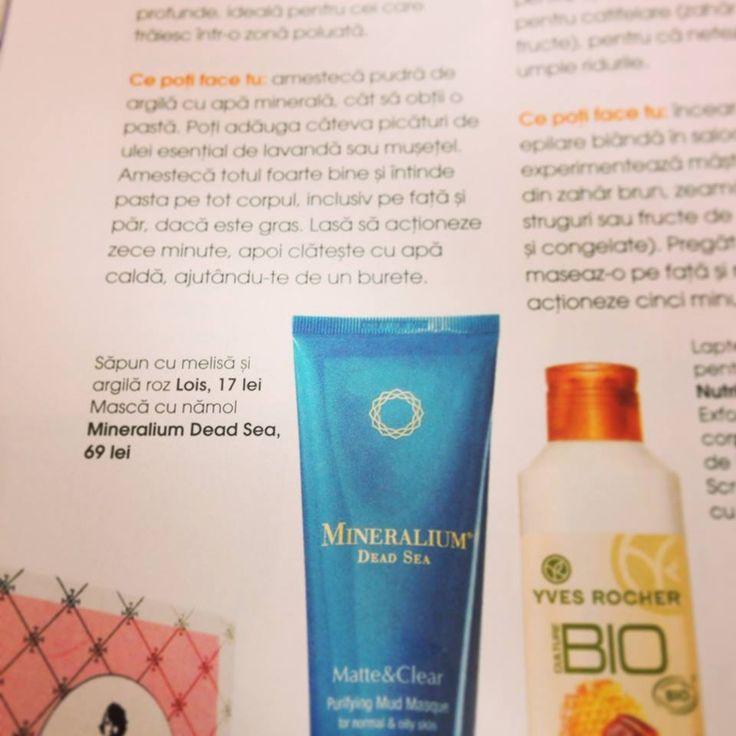 Masca cu namol din gama Matte&Clear este recomandarea revistei Femeia, numarul de octombrie. Multumim, Luminita Tabaran!