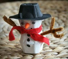coole bastelideen schneemann basteln dekorieren