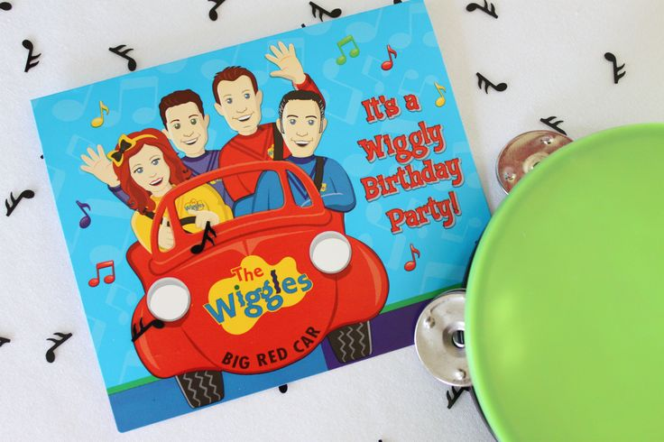 Let your guests know that you and your little one are celebrating a special birthday with a rockin' and rollin' good time by sending them birthday party invitations with The Wiggles. (Credit: Jenny)
