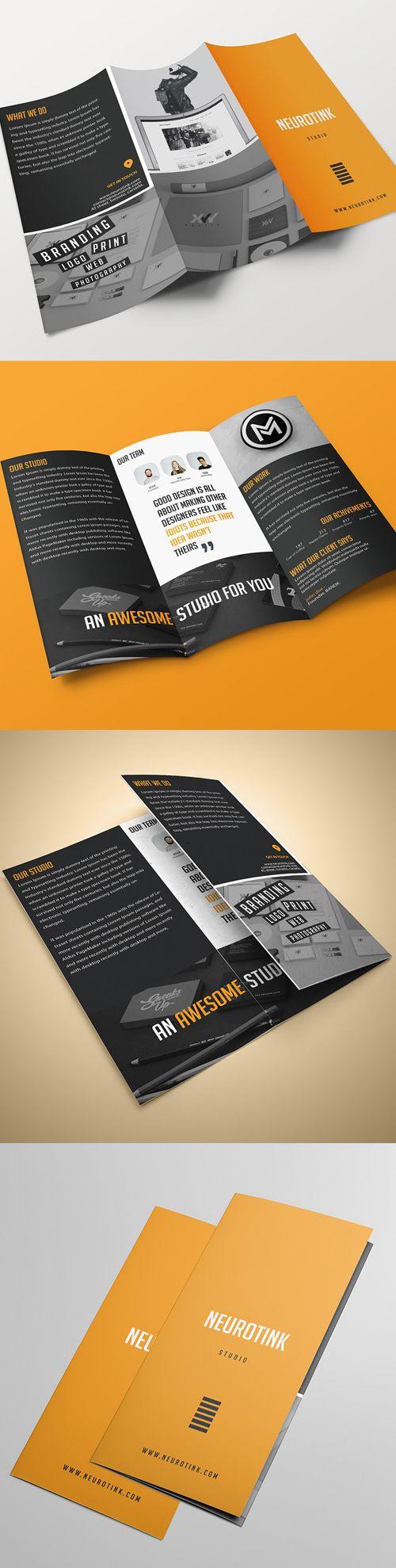 Tri-fold Brochure #Brochure #Template #Design #BrochureTemplate #TriFoldBrochure