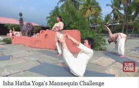 Isha Hatha Yoga's Mannequin Challenge è un video molto popolare in Facebook pubblicato nella pagina di Sadhguru Jaggi Vasudev. Sadhguru è un autore che vie