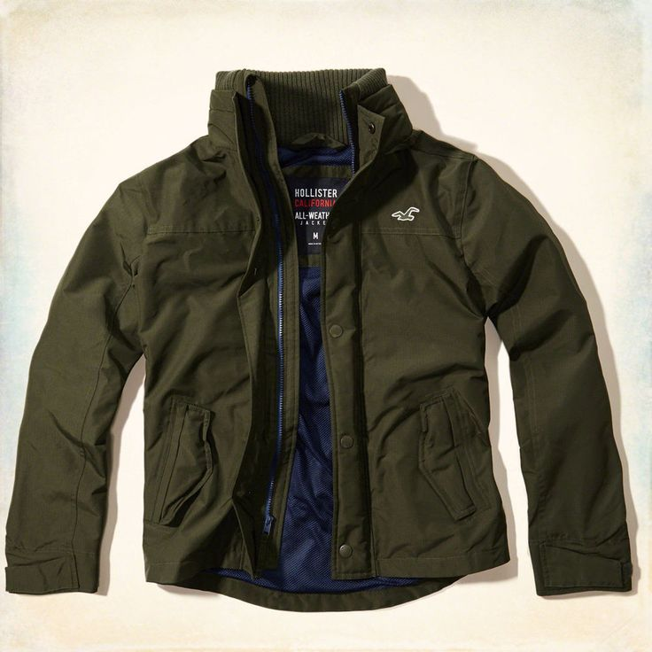 hollister by abercrombie all weather coat jacket mens