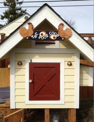 Chicken Coop (Tacoma, WA), electricity, porch lights, welcome mat!