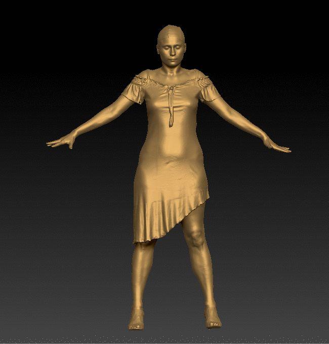 Full Body 3D Scan Of Margie