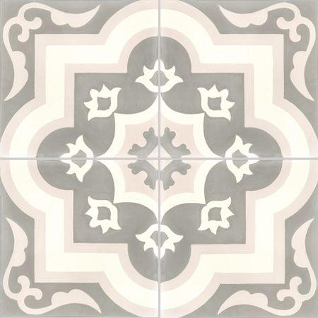 Carreaux de ciment - décors 4 carreaux - Carreau OLIVIER 27.04.10 - Couleurs & Matières