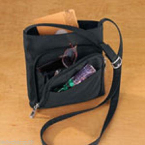 Sleek Black Organizer Over The Shoulder Strap Ladies Purse Bag   eBay