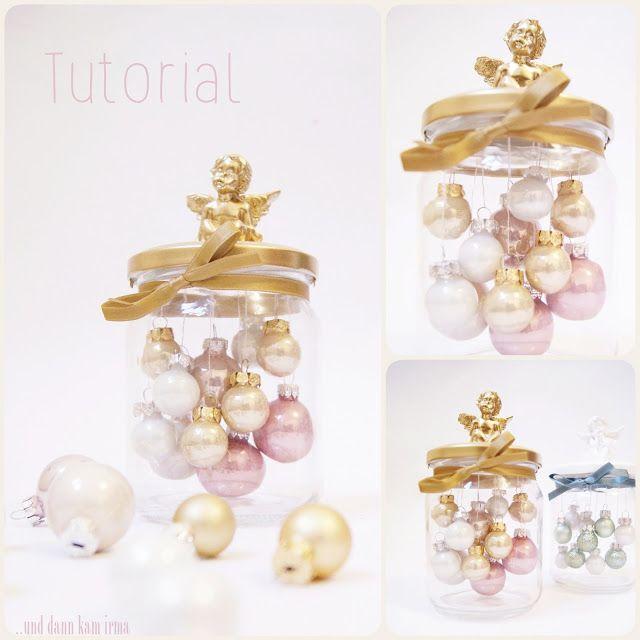 Weihnachtskugel Deko Einmachglas DIY Tutorial
